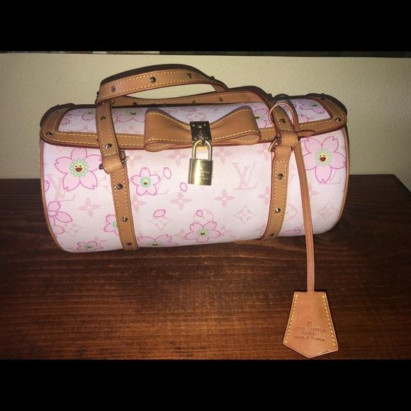 bf61b02d055 Louis Vuitton Handbags - LV Papillon Cherry Blossom Murakami Pink Hobo Bag